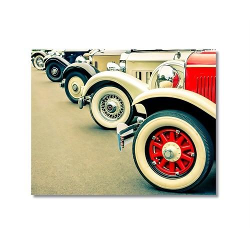 Tictac Antika Arabalar 2 Kanvas Tablo - 50X75 Cm