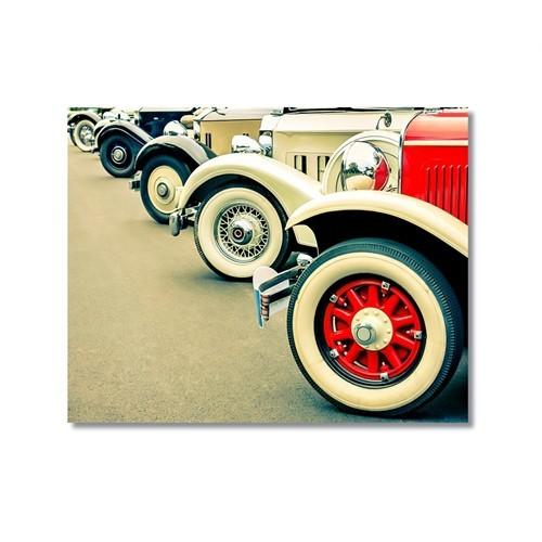 Tictac Antika Arabalar 2 Kanvas Tablo - 60X90 Cm