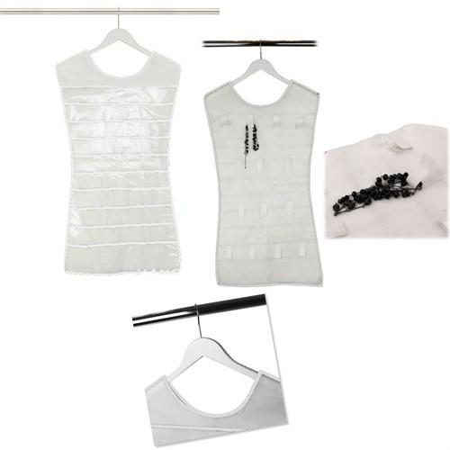 Elbise Şeklinde Takı Organize Edici Beyaz