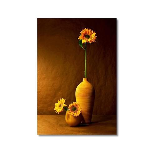Tictac Vazodaki Çiçek 3 Kanvas Tablo - 40X60 Cm