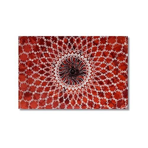 Tictac Kırmızı Çatı Kanvas Tablo - 50X75 Cm