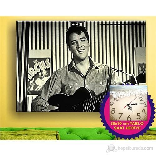 Elvis In Sepia Kanvas Tablo
