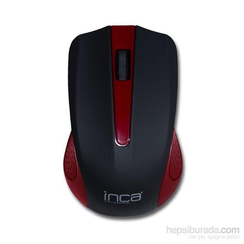 Inca IWM-T371K 2.4Ghz Kablosuz Nano Alıcılı Kırmızı Mouse