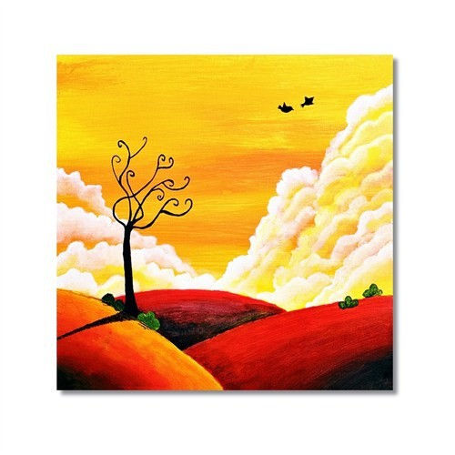 Tictac Dekoratif Doğa 2 Kanvas Tablo - 50X50 Cm