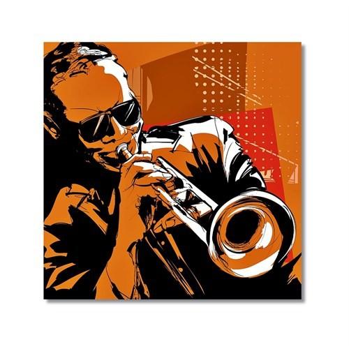 Tictac Jazz Müzisyenleri 5 Kanvas Tablo - 60X60 Cm