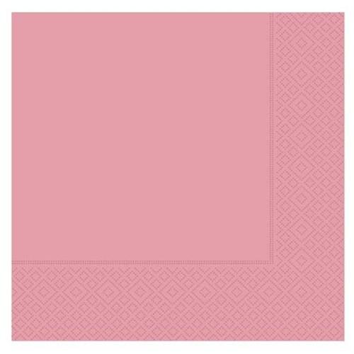Pandoli 20 Adet Pembe Renk Kağıt Parti Peçetesi 33 Cm