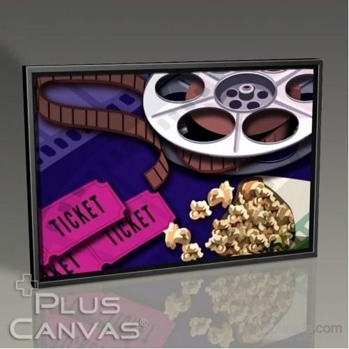 Pluscanvas - Veronica Moe - Movies And Popcorn Tablo
