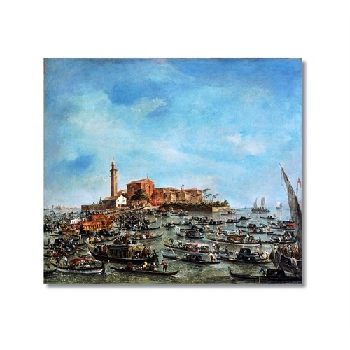 Tictac Venedik 4 Kanvas Tablo - 70X70 Cm