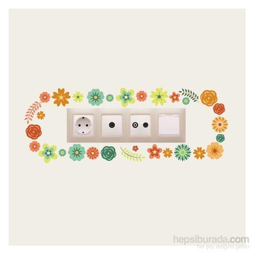 Artikel Çiçekler-1 Priz Sticker