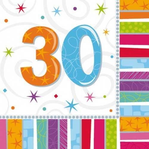 Parti Paketi Işıltılı 30 Yaş Büyük Peçete