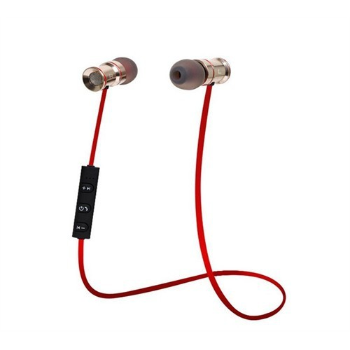 Gaoye Extra Bass Metal Kumandalı Bluetooth Kulaklık-Kırmızı