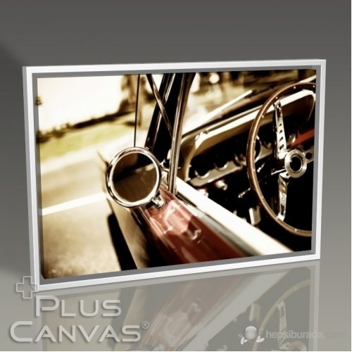 Pluscanvas - Classical Car Mirror Tablo