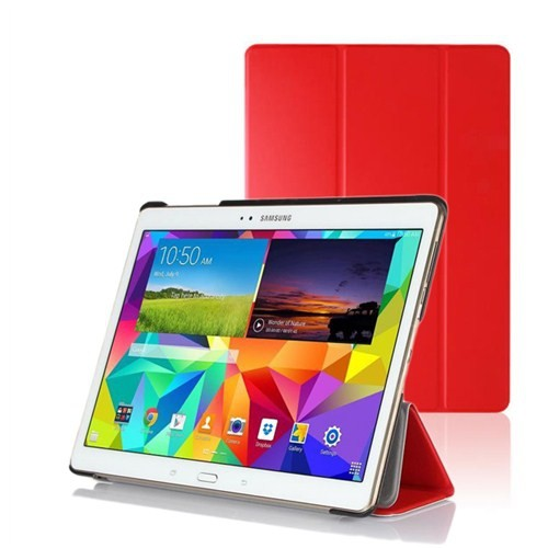 Microsonic Samsung Galaxy Tabs T800 Smart Case Ve Arka Kılıf Kırmızı