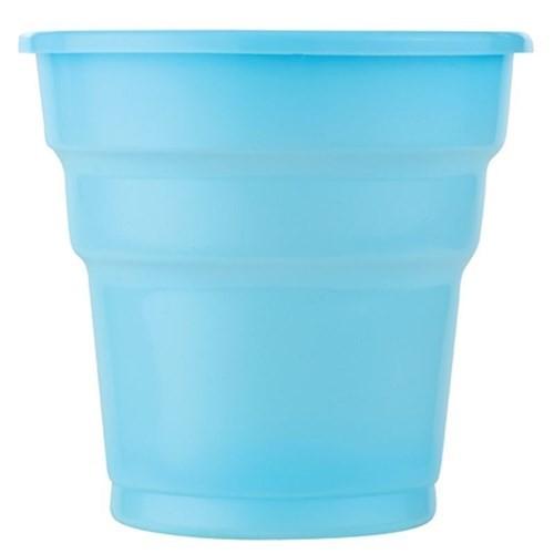 Pandoli Mavi Renk 25 Adet Plastik İçecek Parti Bardağı 180 Ml
