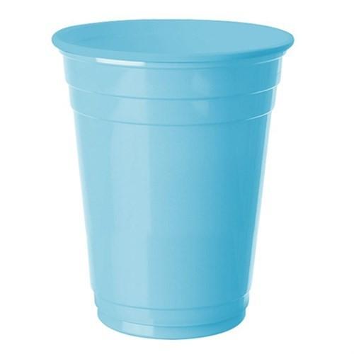 Pandoli 8 Adet Plastik Bebek Mavisi Renk Meşrubat Parti Bardağı 266 Ml
