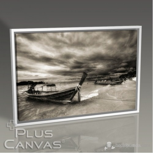 Pluscanvas - Boats On Coast Tablo