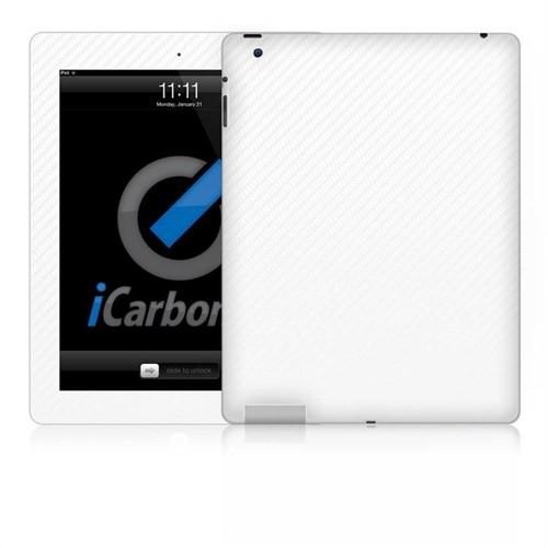 İcarbons Apple Ipad 4.Nesil Wıfı / 3M Beyaz Karbon Kaplama Kılıf