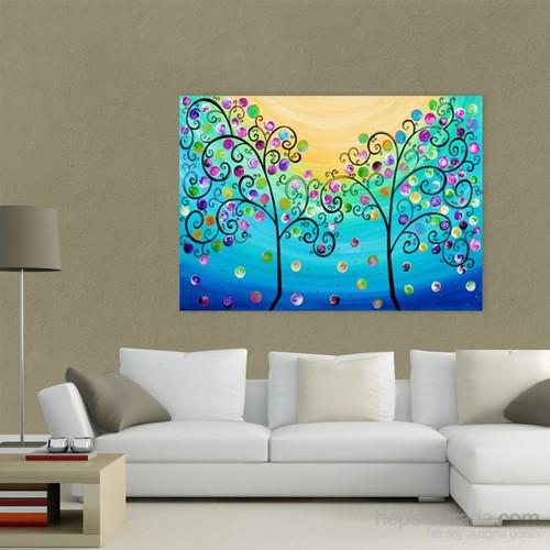Atlantis Tablo Renkli Ağaç 70X50 Cm