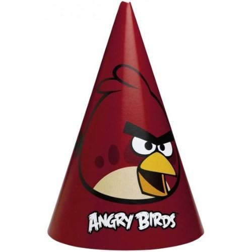 Parti Paketi Angry Birds Parti Şapkası 6'Lı
