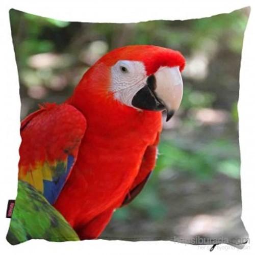 Bengü Accessories Papağan, Kuş Desenli Dekoratif Yastık 2
