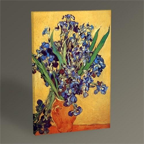 Tablo 360 Vincent Van Gogh Vase Of Irises Against A Yellow Background 45X30