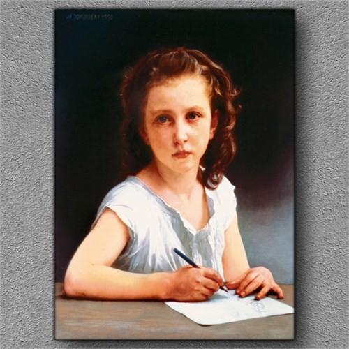 Tablom Çalışkan Kız Kanvas Tablo
