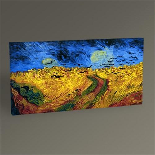Tablo 360 Vincent Van Gogh Buğday Tarlası Ve Kargalar Tablo 60X30