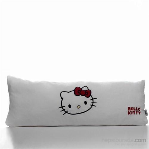 Hello Kitty Nakışlı Wellsoft Kırlent Beyaz 80x30 cm