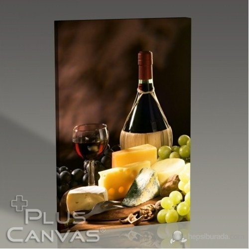 Pluscanvas - Cheese And Wine Tablo