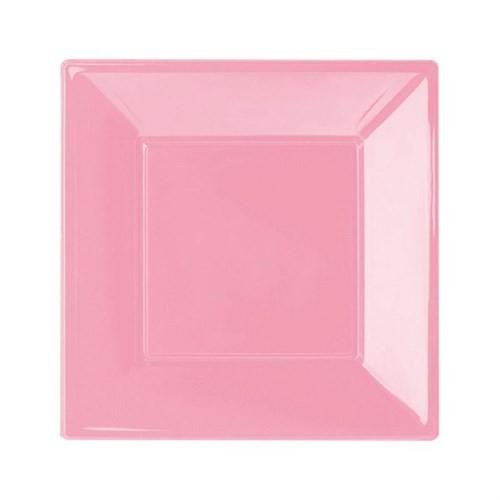 Pandoli Pembe Renk Küçük Boy 17 Cm Plastik Parti Tabağı 8 Adet