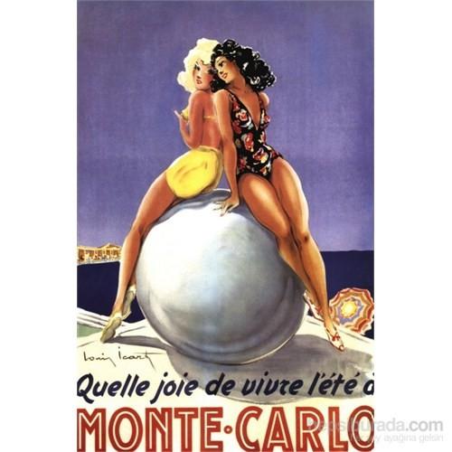Metal Poster - Monte Carlo Vıvre L'ete - Icart 30X40cm