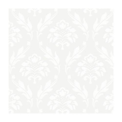 Bien Forever 15101 Soft Beyaz Damask Desenli Duvar Kağıdı