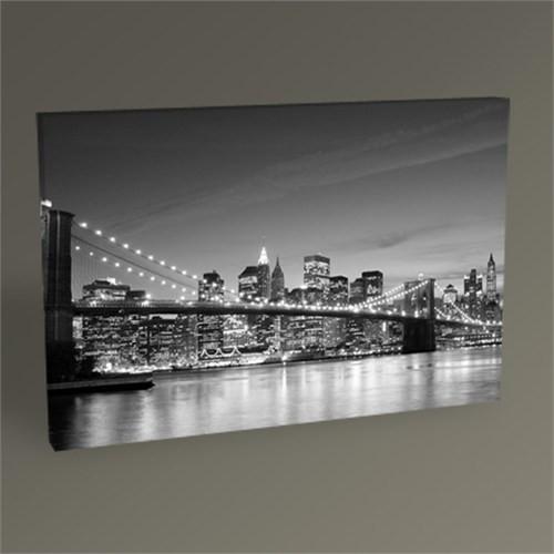 Tablo 360 Brooklyn Bridge And Manhattan Skyline At Night Tablo 45X30