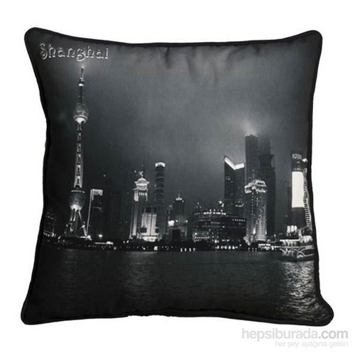 Yastıkminder Koton Polyester Ülke Çin Siyah Beyaz Dijital Baskılı Yastık