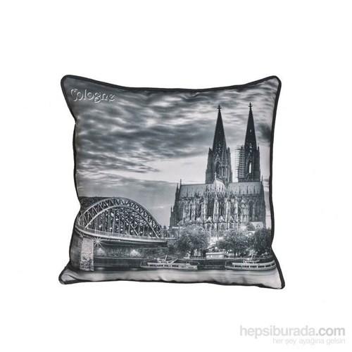 Yastıkminder Şehirler Almanya Köln Dijital Baskı Yastık