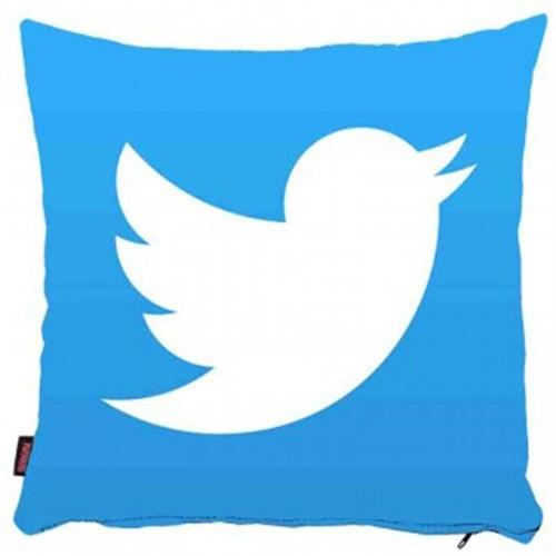 Bengü Accessories Twitter Logo Desenli Dekoratif Yastık 40X40 Cm