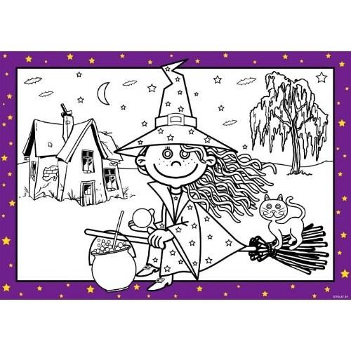 Parti Paketi Tatlı Cadı Boyama Kağıtları
