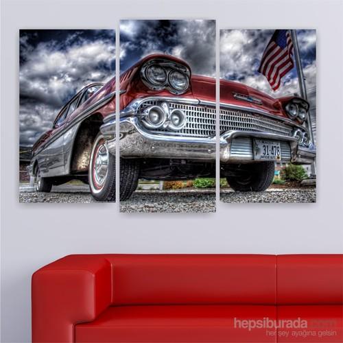 Dekoriza Klasik Araba 3 Parçalı Kanvas Tablo 80X50cm