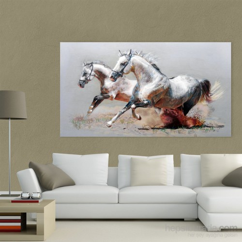 Atlantis Tablo Koşan Atlar 75X40 Cm