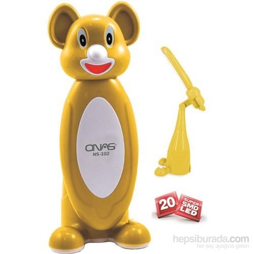 Hiper Onas NS-102S Şarjlı Sarı Masa Lambası ve Işıldak