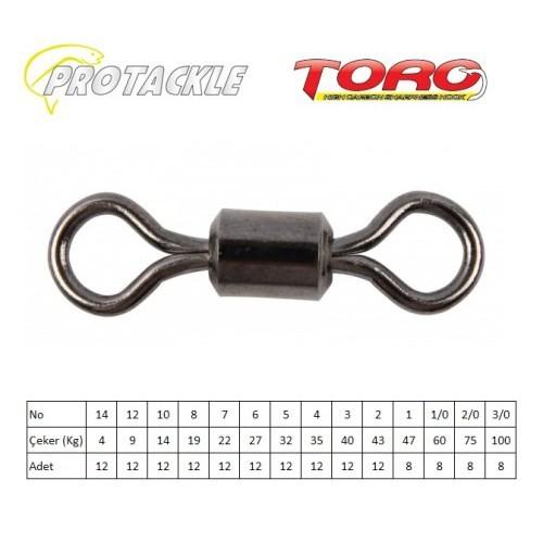 Protackle Toro Rolling Swivel Fırdöndü Black Nikel No:12