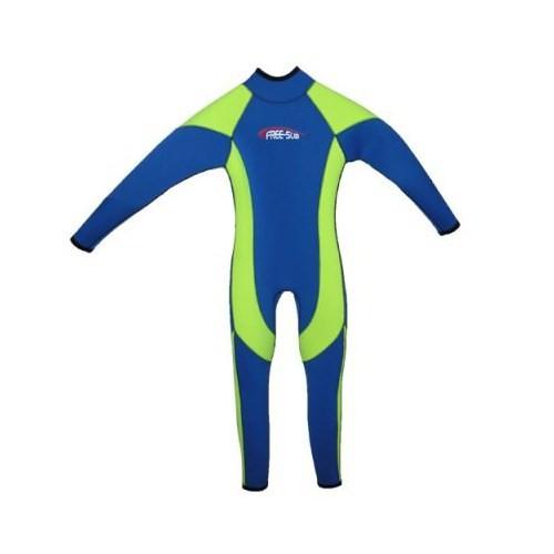 Free-Sub Surf Çocuk Elbise 3Mm Gri-Mavi Beden:L
