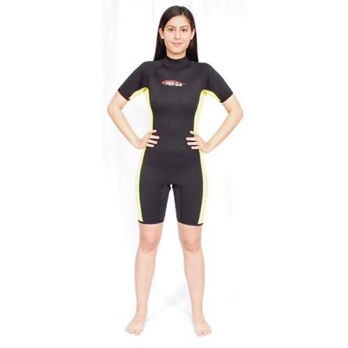 Free-Sub Shorty Kadın Dalış Elbisesi 3Mm Siyah Beden:Xl