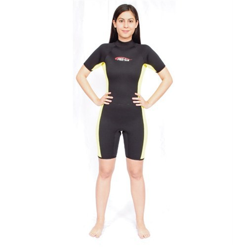Free-Sub Shorty Kadın Dalış Elbisesi 3Mm Sarı Siyah Beden:Xxl