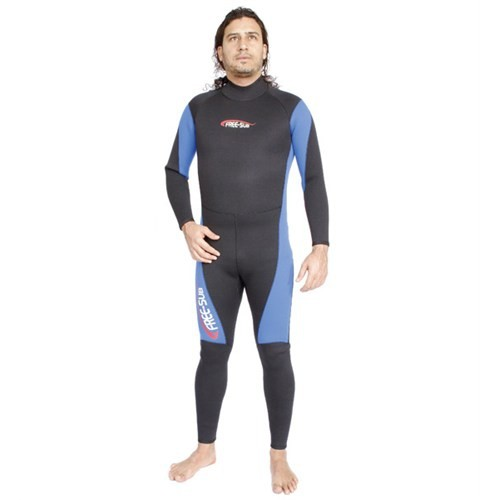 Free-Sub Surf Dalış Elbisesi Unisex 3Mm Mavi Siyah Beden:L