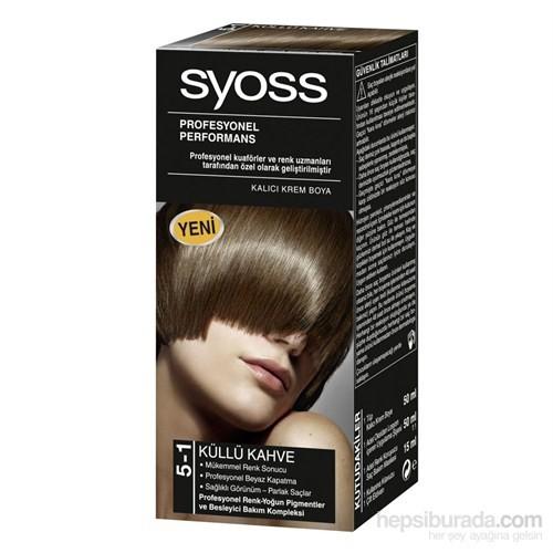 Syoss 5-1 Küllü Kahve Saç Boyası