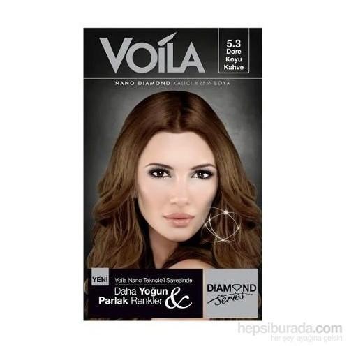 Voila Nano Diamond Krem Saç Boyası Dore Koyu Kahve 5,3