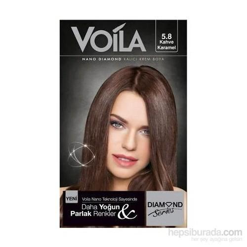 Voila Nano Diamond Krem Saç Boyası Kahve Karamel 5,8