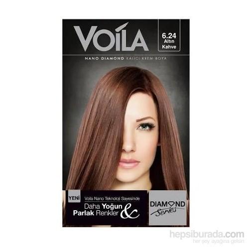 Voila Nano Diamond Krem Saç Boyası Altın Kahve 6,24
