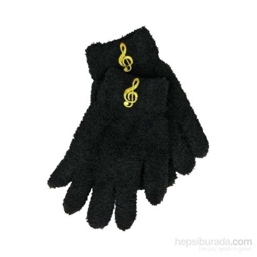 Sol Anahtarı İşlemeli Siyah Eldiven